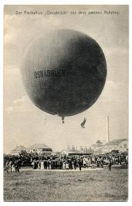 """Der Freiballon """"Osnabrück"""" vor dem zweiten Aufstieg"""