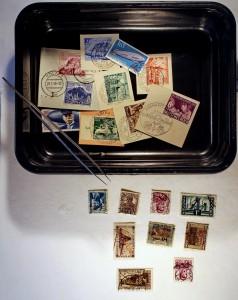 Briefmarken waschen