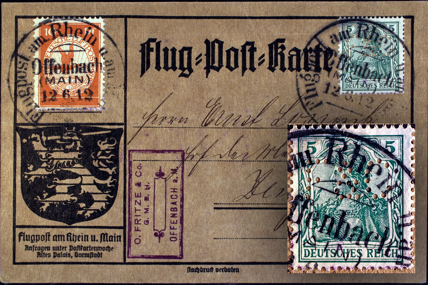 Flug-Post-Karte
