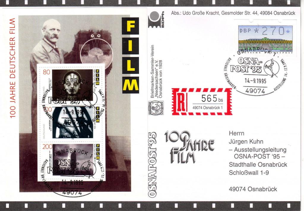 Beleg OSNA-POST '95 100 Jahre Deutscher Film
